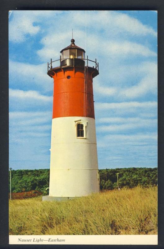 Eastham, Mass/MA Postcard, Nauset Light, Cape Cod, 1974!
