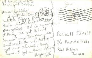 Farragut Idaho~Naval Training Station~Navy Smoke House~Cigarettes~1944 WWII RPPC