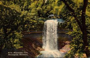 Minnesota Minneapolis Minnehaha Falls 1952 Curteich