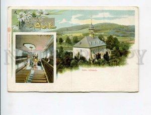 3173903 GERMANY GRUSS aus Aue Church Vintage litho postcard