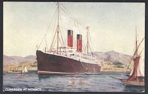 Cunard Lines RMS Franconia in Monaco Postcard