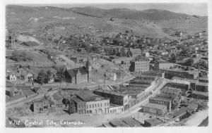 Central City Colorado Birdseye View Of City Real Photo Antique Postcard K80885