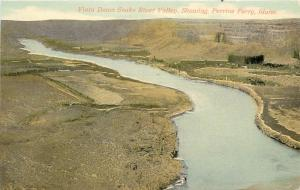 c1907 Postcard; Snake River Valley & Perrine Ferry, ID (Before Bridge) Unposted