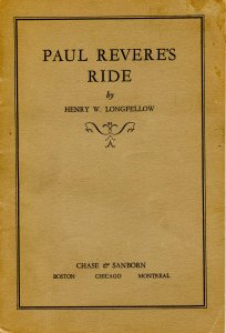 Booklet - Paul Revere's Ride by Longfellow. ca 1906. Chase & Sanborn  (6.75...
