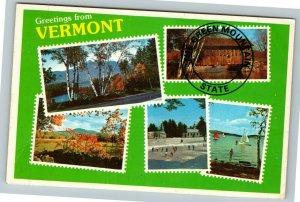 Manchester VT- Vermont, General Greetings, Chrome Postcard