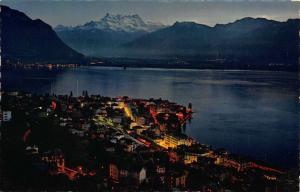 Switzerland Montreux et les Dents du Midi General view Postcard