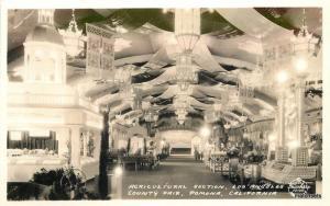 1932 Agriculture County Fair Los Angeles Pomona California RPPC postcard 8833