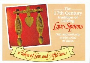 Social History Postcard - The 17th Century Love Spoons  AB2614