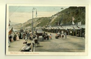h0400 - Arcade & Esplanade Sandown , Isle of Wight - postcard