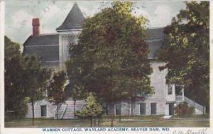 Wisconsin Beaver Dam Warren Cottage Wayland Academy 1908