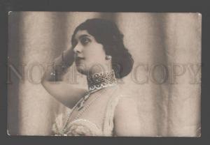 097321 Lina CAVALIERI Italian OPERA Star vintage PHOTO tinted