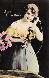 Sure! I'll be there Telephone Writing on Back
