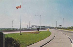 View from the Canadian approach to the Bluewater Bridge, Ontario,  Canada,  4...
