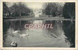 Old Postcard Montpellier Esplanade Garden Monument Auguste Comte and the War ...