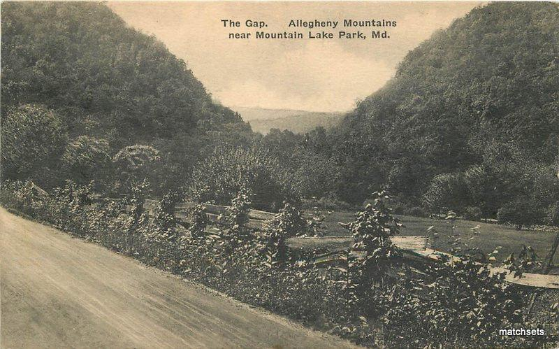 c1920 Gap Alleghany Mountains Lake Park Maryland Albertype Abingdon  8637