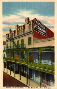 Louisiana New Orleans Antoine's Restaurant St Louis Street