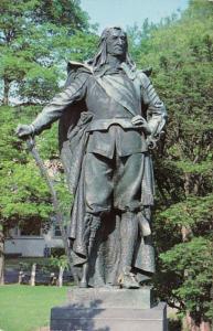 New York Kingston Academy Green Statue Of Governor Pieter Stuyvesant 1999