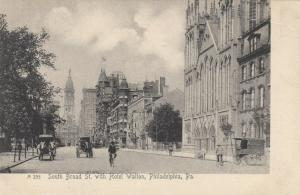 PHILADELPHIA , Pennsylvania , 1901-07 ; South Broad Street with Hotel Walton