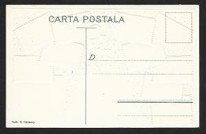 ROMANIA Stamps on Postcard Embossed Shield Map Unused c1910-1930