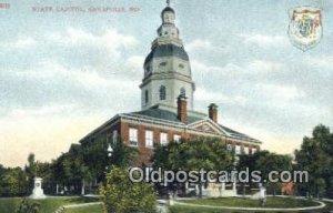 Annapolis, Maryland, MD State Capital USA Unused