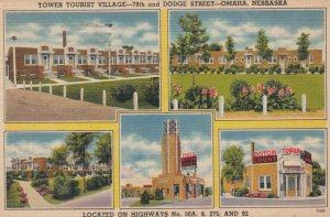 OMAHA, Nebraska, 1947; Tower Tourist Village, 78th and Dodge Street, 5-views