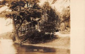 Wrentham Massachusetts Lake Pearl Shoreline Real Photo Antique Postcard K84301