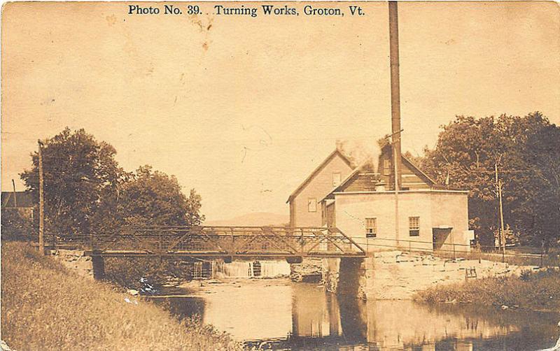 Groton VT Turning Works Iron Bridge Photo # 39 RPPC Postcard