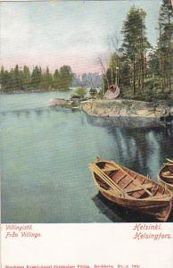 Sweden Villingista Fran Villinge Canal Scene