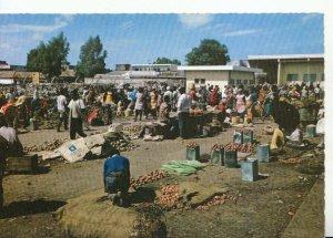 Kenya Postcard - Market Scene - East Africa - Mombasa - Kenya - RP - Ref 20434A