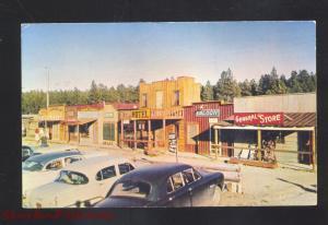 ROCKERVILLE GOLD TOWN SOUTH DAKOTA 1950's CARS VINTAGE SD POSTCARD STORES