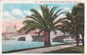 Florida Tampa Lafayette Street Bridge From City Park 1928
