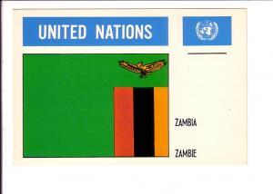 Zambia, Flag, United Nations,