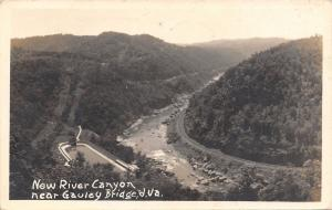 Gauley Bridge West Virginia~Railroad Tracks Around New River Canyon~1938 RPPC
