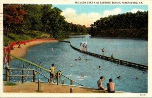 Petersburg Willcox Lake and Bathing Beach 1939 Curteich