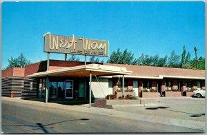 Rawlins, Wyoming Postcard WEST WAY LODGE Motel / Highway 30 Roadside Dated 1961