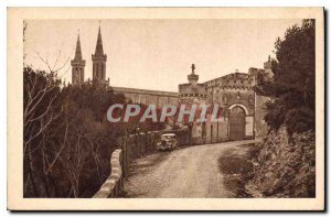 Old Postcard Saint Michel de Frigolet (HR B) Arrival to the Old Monastery ent...