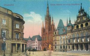 Germany Wiesbaden Schloss Rathaus und evang Hauptkirche 02.62