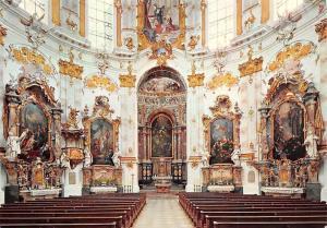 Benedictiner Abtei Ettal, Abteikirche, Altare mit Holzplastiken Abbey
