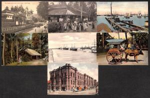Sri Lanka Ceylon lot 7 vintage postcards