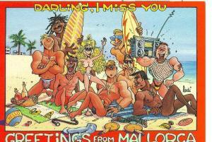Postal 006116 : Recuerdo de Mallorca, artista John Lodi