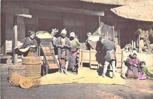 Chinese Working Street Scene China Postcard