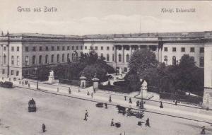 Konigl. Universitat, Gruss Aus Berlin, Germany, 1900-1910s