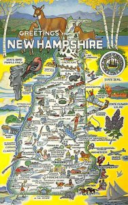 Maps New Hampshire USA Unused