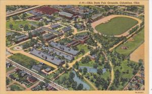 Ohio Columbus Aerial View Ohio State Fair Grounds Curteich