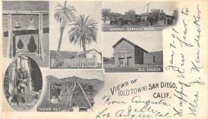 San Diego California views of landmarks famous places antique pc ZA440679