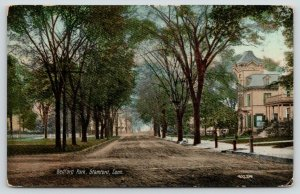 Stamford Connecticut~Bedford Park~Houses on Right~1912 Postcard