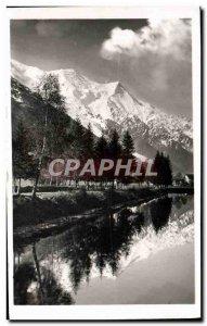 Postcard Modern Praz Lake and Mont Blanc