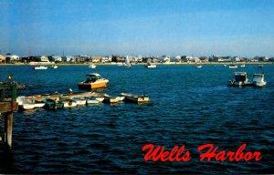 Maine Wells Harbor Fishing Boats and Pleasure Craft
