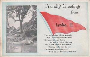 Pennant Series Lyndon Illinois 1912