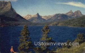 St Mary's Lake, Sun Point Glacier National Park MT Unused